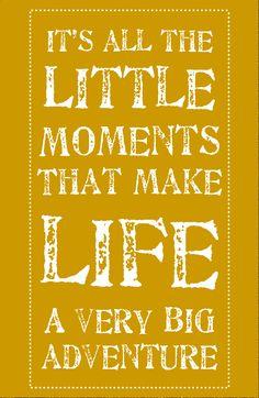 Little moments, little people, little hugs, little kisses, little voices, little smiles, little faces <3