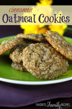 My friend's mom would make the yummiest food for us but it was always a special treat when we would get these oatmeal cookies.