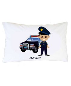 Personalized Pillowcases for Kids, Policemen Pillowcase, Custom Pillowcase, Personalized Policemen Boy Pillow case