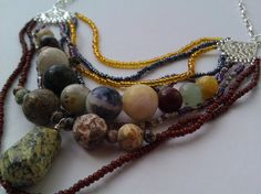 Chunky 9 strand chandelier necklace. $42.00, via Etsy.