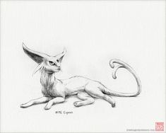 Espeon - 8 x print (pokemon drawing art artwork gaming nintendo decor) Pokemon Tattoo, Art Drawings, Pencil Drawings, Drawing Art, Pokemon Real, Pokemon Sketch, Texture Drawing, Pokemon Pictures, Ideas