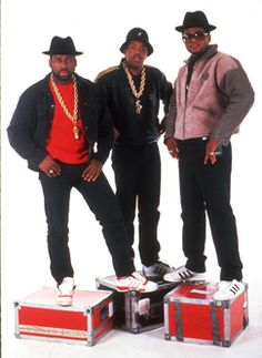 finest selection f8d6e 2f7b0 Rap pioneers Run-DMC were at the helm of hip hop fashion and style they  popularized heavy gold chains, Adidas shell-toe sneakers, large gold rings,  ...