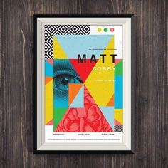 Gig poster for Matt Corby at the Fillmore Matt Corby, Design Art, Graphic Design, Gig Poster, Art Academy, Typography, Collage, Posters, Graphics