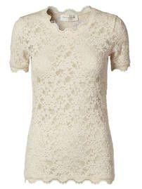 Hel-blonde T-shirt, rund hals // marble