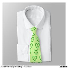 St Patrick's Day Heart Tie