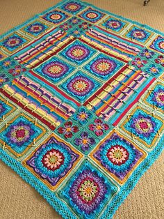 Crochet Borders, Crochet Afghans, Crochet Blankets, Demelza, Afghan Blanket, Flower Patterns, Crow, Crochet Projects, Garland