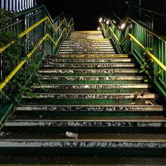 Forgotten Stairway. Seemingly mundane things take on a whole new life at night…