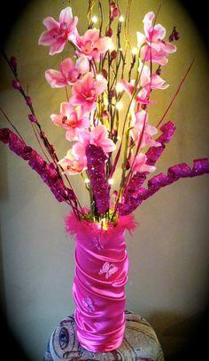 beautiful pink vase