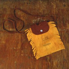Yellowstone Fringed Leather Pouch, $22