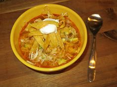 {Kaitlin in the Kitchen}: Slow Cooker Chicken Enchilada Soup