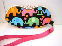 Colourful Elephants Wristlet Glasses Case £15.00