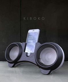 Ipod wood speakers design cesare monti studio