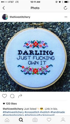Own it cross stitch