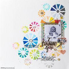 """I Treasure You"" done with Ronda Palazzari's Parasols stencil..."