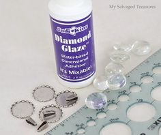 How to make jewelry with flat back marbles and Diamond Glaze