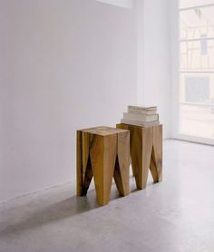 Solid Block Side Tables