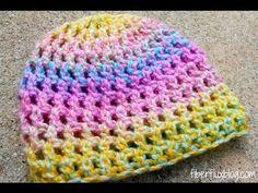 VERY EASY crochet cluster baby hat tutorial - crochet hat for beginners - YouTube