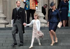 Prince Edward, Earl of Wessex, Sophie Countess of Wessex and Lady Louise Windsor