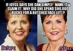 She looks like the Joker from.the Batman circa 1960's ...Joyce your face is not original. Hahahah
