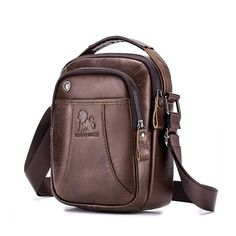 laoshizi Men Genuine Leather Scratch-resistant Crossbody Bag Earphone Cowhide Bag is hot-sale, many other cheap crossbody bags on sale for men are provided on NewChic. Cheap Crossbody Bags, Messenger Bag Men, Leather Briefcase, Leather Crossbody Bag, Leather Handbags, Cowhide Bag, Ipad, Casual Bags, Fashion Handbags