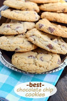 If you're looking for Perfect Chocolate Chip Cookies, this recipe is the answer. Crunchy on the outside, and chewy and soft in the center!