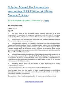 Intermediate accounting ifrs edition 1st edition volume 1 kieso testbanksuccess solution manual for intermediate accounting ifrs edition 1st edition volume 2 fandeluxe Images