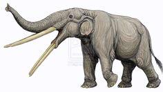 Stegotetrabeledon -- the shishkabab elephant.