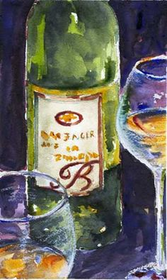 A Month of Painting a Day Ideas: A Bottle (Wine or Otherwise)