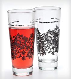Lace Printed Glassware