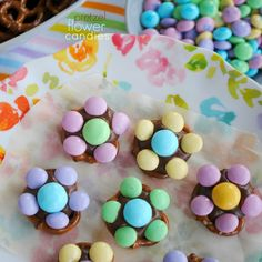 Get the kids in the kitchen and make some of this easy, delicious Flower Candy. Pretzels, m&m's and Hershey kisses are all you need!