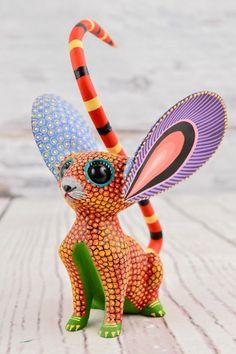 A1175 Cute Fine Mouse Alebrije