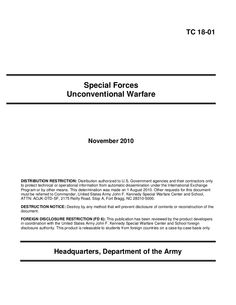 U.S. Army Special Forces Unconventional Warfare Training Manual November 2010 by AFRIKASOURCES via slideshare