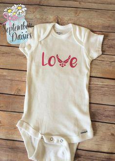 Air Force Love Onesie - Military Love Onesie - Air Force Baby Outfit - Navy Baby Outfit - Army Baby Outfit- Military Onesie - $12.60 USD