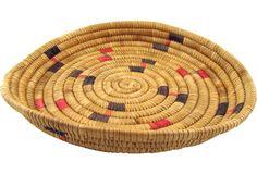 Native American Basket, Red & Black - One Kings Lane - Vintage & Market Finds - Decorative Accessories
