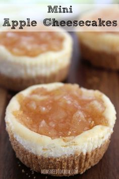 These mini apple cheesecakes are very easy to make and absolutely delicious - and by making them in a cupcake pan you can easily control portion size!!