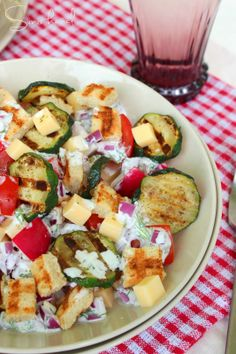 Salad Recipes, Healthy Recipes, Vegetable Recipes, Zucchini, Food And Drink, Vegan, Vegetables, Cook, Healthy Eating Recipes