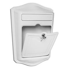 Maison White Locking Wall Mount Mailbox Architectural Mailboxes Wall Mounted Mailboxes Out