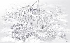 ArtStation - The Rock Shop, Wes Wheeler Environment Painting, Environment Concept Art, Environment Design, Fantasy Castle, Fantasy Art, Art Courses, Graphite Drawings, Rocks And Gems, Fantasy Landscape
