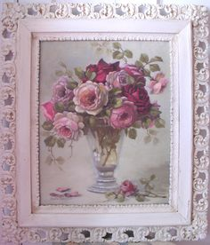"""Vintage Charm"" in antique frame C.Repasy"
