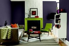 citron and plum living room - Google Search