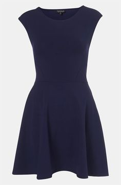 Topshop Skater Dress available at #Nordstrom. Pair it with boots, tights, and a long cardigan.