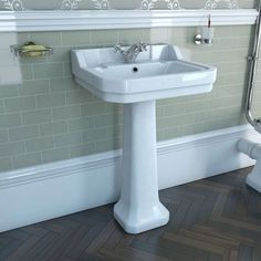 Camberley 1TH Basin & Pedestal. victoria plumb £179 ( £79.99 at moment)