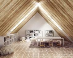 Araustudio Render Arau_Escenario interior mosaico hidráulico Pinar Miro