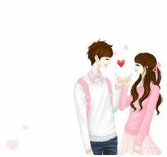 cute anime y Cute Couple Cartoon, Cute Couple Art, Cute Love Cartoons, Anime Love Couple, Cute Anime Couples, Sweet Couple, Korean Illustration, Couple Illustration, Korean Anime