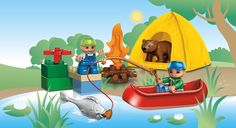 5654 Fishing Trip Cute! Imagine the fun games and adventures that could be had playing with this! #LegoDuploParty
