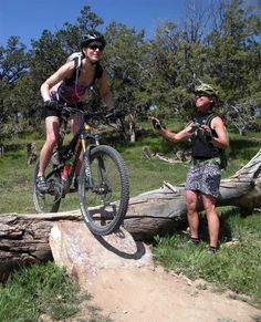 Log, rock and dirt mountainbike obstacle