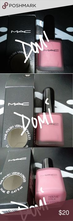x1 MAC VINTAGE OLD SCHOOL PINK POLISH BN BOXED x1 MAC VINTAGE OLD SCHOOL PINK 14ML POLISH Brand New BOXED...untested. Color is called: MAUVE SILK. SOOOOO PRETTY!!! ⛔ONLY 1 AVAILABLE⛔ MAC Cosmetics Other