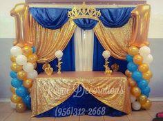 Boy 16th Birthday, Prince Birthday Party, Prince Party, Baby Birthday, Birthday Ideas, Baby Shower Gender Reveal, Baby Shower Themes, Baby Boy Shower, Baby Shower Decorations