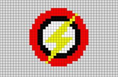Pony Bead Patterns, Hama Beads Patterns, Beading Patterns, Pixel Art Templates, Perler Bead Templates, The Flash, Flash Point, Cross Stitch Designs, Cross Stitch Patterns