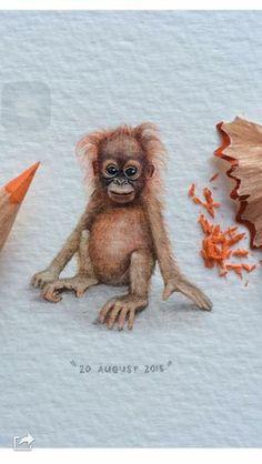 Art by @lorraineloots on Instagram. Monkey tattoo idea for mommy.